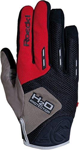 Roeckl Erwachsene Moro Handschuhe, Schwarz/Rot, 10.5