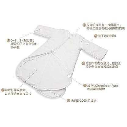 PurFlo–Saco de dormir para bebé (2,5Tog, algodón 100%), color crema 18Meses Plus