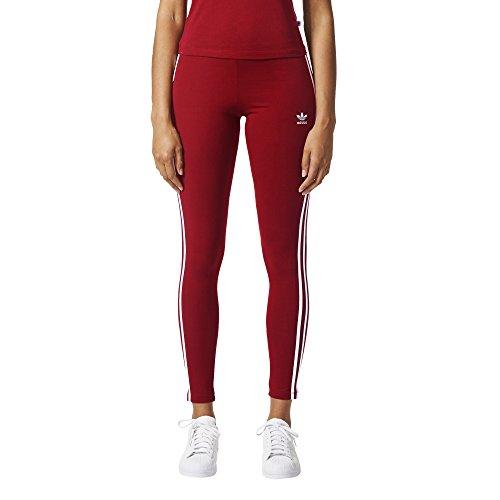 Adidas Originals pour Femme 3-Stripes Legging - Rouge - Small