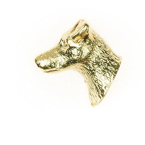 Jack- Russell- Terrier Hergestellt in U.K. Kunstvolle Hunde- Anstecknadel Sammlung (22 Karat Vergoldung / gold plattiert) (Miniatur Jack-russell-terrier)