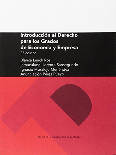 Introducción al derecho para los Grados de Economía y Empresa