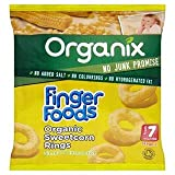 Organix Finger Foods Organic Crunchy Sweetcorn Rings Stage 2 From 7+ Mths 20G