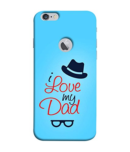 PrintVisa Designer Back Case Cover for Apple iPhone 6 (Logo Cut Case) (I love my dad papa)