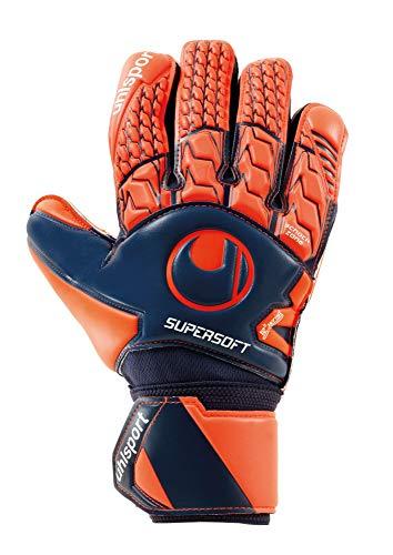 uhlsport Torwarthandschuhe Next Level-Supersoft-In den Größen 6-11 Innenhand Keeper-Handschuhe entwickelt mit Profis-Optimaler Halt und Grip, langlebig-Marine/Fluo rot, 10