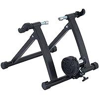 Homcom Rodillo Magnético de Ciclismo Rodillo Entrenamiento Bicicleta Plegable Resistencia Ajustable 54.5x47.2x39.1cm Acero
