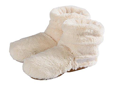 Warmies Slippies Boots deluxe - beige, Größe 37 - 42