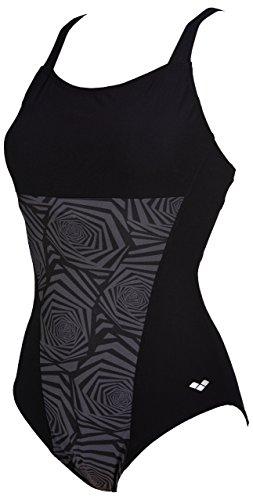 ARENA Damen Badeanzug Helga Eye Back XXXX-Large schwarz/schwarz