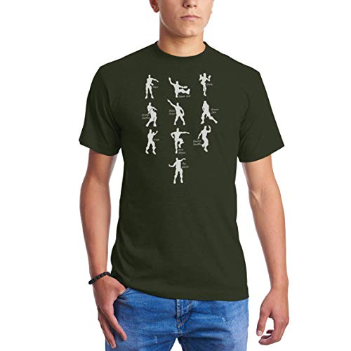 07e35587 Emote Dances - Funny Gaming Parody Video Game Militar Camisetas para Hombre  S
