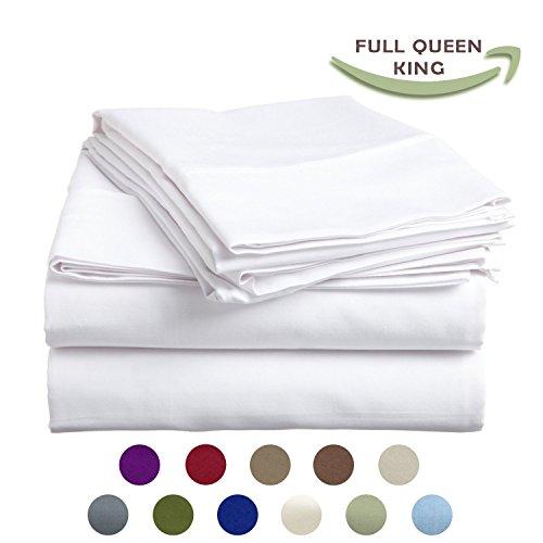 Hohe Festigkeit Natürliche Bambusfaser Yarns Ägyptische Komfort 1800Fadenzahl 3Stück Twin Size-Bettlaken-Set, beige, baumwolle, weiß, Volle Größe - Komfort ägyptische