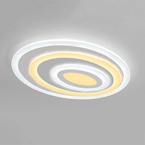 ZHAOJING Lampe de salle de séjour de lampe de plafond ultra-mince menée post-moderne minimaliste chaude lampe de chambre à coucher ovale principale de lampe d'ambiance lampes de lampe originale distinctive Produit Design Plomb la tendance 62w d'éclairage d'esthétique ( Couleur : Lumière blanche )