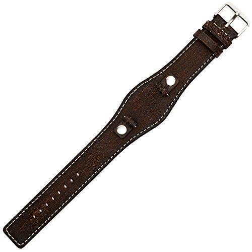Fossil Uhrenarmband 10mm Leder Braun - JR-8130   LB-JR8130