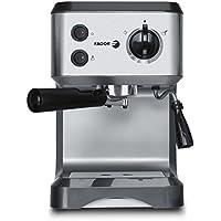 Fagor CR-1500 Espressomaschine leistungsstarke 1050W Siebträger-Espressomaschine / Kaffeemaschine inkl. Milchaufschäumer-Funktion, 15 bar Pumpendruck Wassertank 1.25 Liter Edelstahl