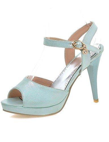 UWSZZ Die Sandalen elegante Comfort schuhe Donna-Sandali - Büro und Arbeit/Formale-Tacchi/Plateau/Bequem/Open - mandrin - Gomma-Blu/Rosa/Weiß Blue