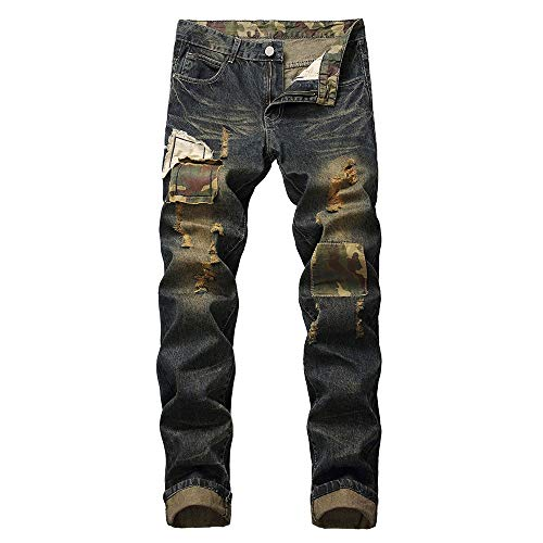 Liuchehd-pantaloni sportivi da uomo jeans color denim stretch regular fit jeans da uomo skinny strappati elasticizzati da uomo pantaloni jeans da denim
