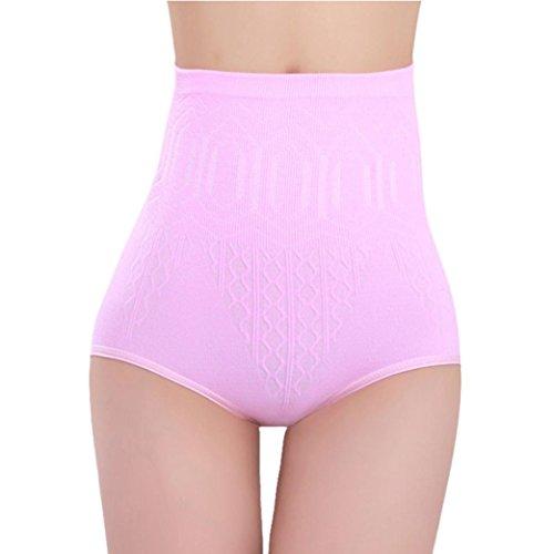 Lolittas Mutande cotone,intimo seamless,Controllo Shaper corpo Pantaloni a vita alta Slip dimagrisce i pantaloni (Taglia Unica, rosa)
