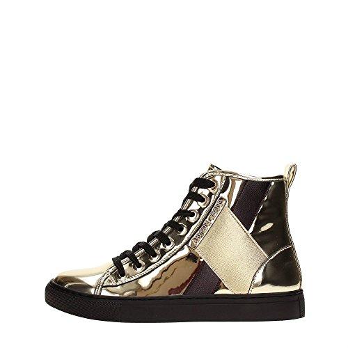 ARMANI JEANS Sneaker Stivaletto Vernice Metallizzato 6A514 (39)