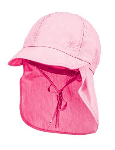 maximo Baby - Mädchen Mütze Schildmütze, Nackenschutz, Bindeband 94500-036976_23,...