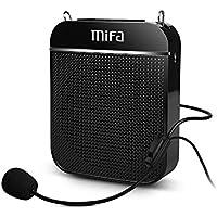 MIFA Mini Sprachverstärker Wiederaufladbare Ultraleicht tragbare, Voice Amplifier Praktisches und Megaphonen mit Mikrofon-Headset Für Vorträge, Lehrer, eines Reiseführers und Trainer, Schwarz