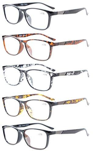 9177fa3278 Eyekepper 5-Pack Los lectores de calidad Crystal Clear Vision gafas de  lectura incluyen lentes