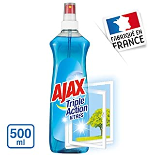 Ajax Glass Cleaner Spray 500ml Regular (Pack of 4