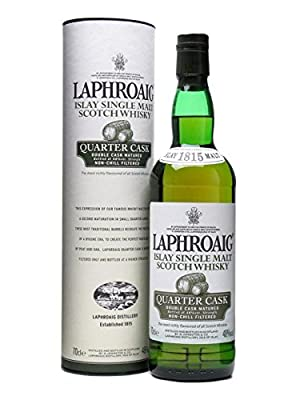Laphroaig Quarter Cask Single Malt Scotch Whisky 70cl Bottle x 2 Pack