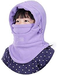 VSREI Bonnet Enfant Chapeau Ski Écharpe d hiver Doublure Cotton Doux, 5 en  1 Ajustable Epais Elastique Cache Oreilles Garçon Fille en Plein Air… d3e6c453293