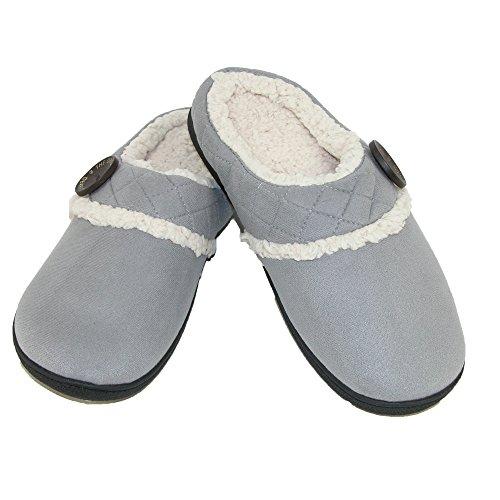 Dearfoams , Chaussons pour femme gris moyen