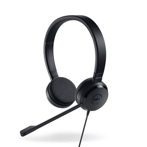 Dell UC150Binaural Head-Band Black Headset–Headsets (PC/Gaming, Binaural, Head-Band, Black, in-line Control, Wired)