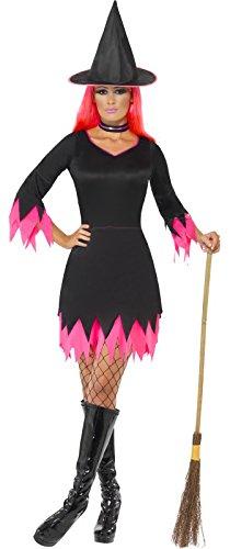 (Smiffys Damen Hexen Kostüm, Kleid, Hut und Halsband, Größe: L, 30880)