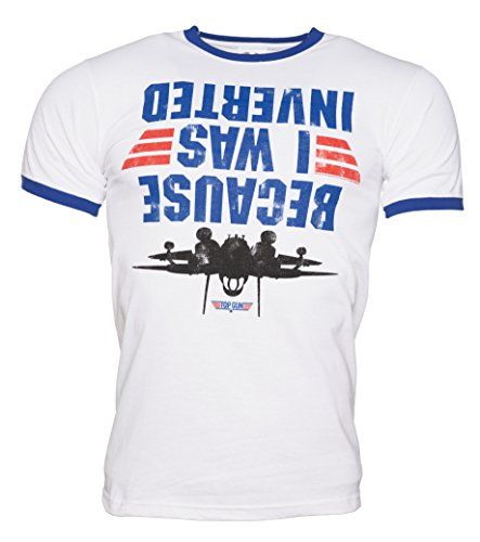 Mens Top Gun Because I Was Inverted Ringer T Shirt - S to XXL
