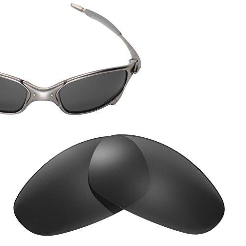 Cofery Ersatzgläser für Oakley Juliet Sonnenbrille - Verschiedene Optionen erhältlich, Unisex, Black - Polarized, Einheitsgröße