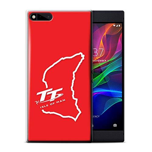 Isle of Man TT Offiziell Hülle/Gel TPU Case für Razer Phone/TT Schaltung  rot Muster/TT Logo Kollektion