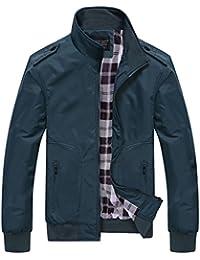 Quge Giacca da Uomo Giacche Classico Retro Vintage Manica Lunga Casual  Outwear Jacket fa1b06b30b3