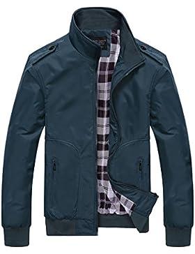 Hombre Casual Chaqueta Jacket Cazadora Mangas Largas Cierre De Cremallera Outwear Tops