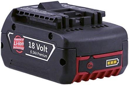 Powayup Powayup Powayup 18V 5.0Ah Batterie di ricambio agli ioni di litio per Bosch GBA BAT609 BAT610G BAT618 BAT618G BAT619 BAT620 Utensile elettrico per trapano a batteria Capacità estesa con indicatore LED   La prima serie di specifiche complete per i clienti  5001fc
