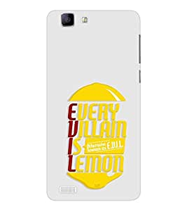 EPICCASE Evil Lemon Mobile Back Case Cover For Vivo X 3s (Designer Case)