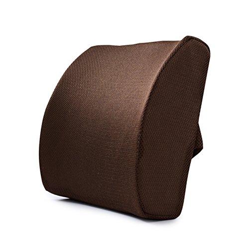 Bambus-schlafzimmer Kopfteil (VANELIFE Memory Foam Lendenwirbel kissen, Relief Rückenschmerzen Breathable Mesh, für Büroangestellte Schwangere Frauen Fahrer, Braun)