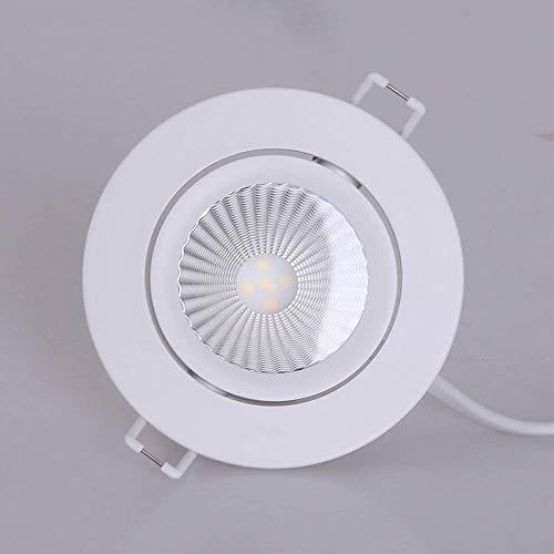XHJJDJ Moderne vertiefte 7W einstellbare Neigung Twist & Lock Netz 220V LED Kompatibel bewertet...