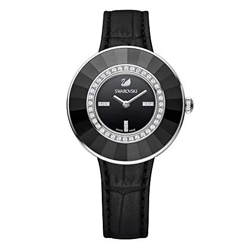 Swarovski Damen Analog Quarz Uhr mit Leder Armband 5182252