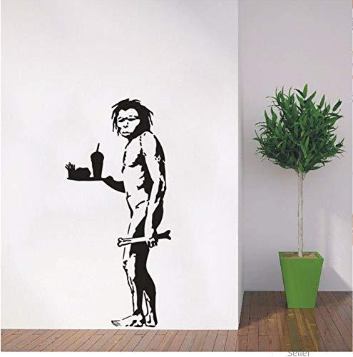 Caveman Halloween - Zxfcczxf Wandtattoo Vinyl Aufkleber Banksy Caveman