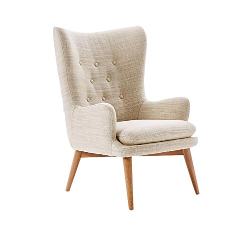 Afydecor A-CH046 Wingback Chair (Off-White)
