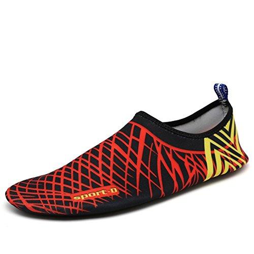 Eagsouni® Unisexe Pieds Nus Aquatique Chaussures de Peau Aqua Chaussettes Pour Plage Swim Surf Yoga Gym #2Noir