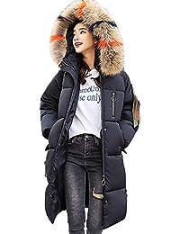 Mambain Cappotti Donna Eleganti Piumino Cotone Invernali Manica Lunga  Taglie Forti Caldo con Cappuccio Cardigan Giubbino 6784c313743