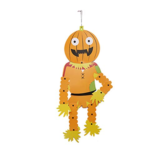 BESTOYARD Halloween Kürbis DIY hängende Dekoration Schild Anhänger Charm für Tür Fenster Wand Party (Halloween-dekorationen Für Diy Tür)