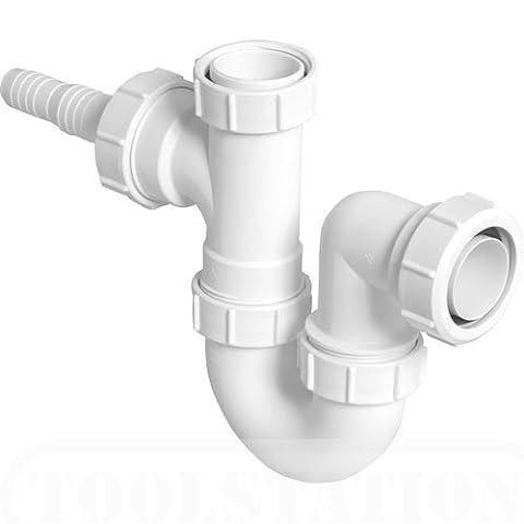 McAlpine WM2 Sink Trap with Horizontal Nozzle - White