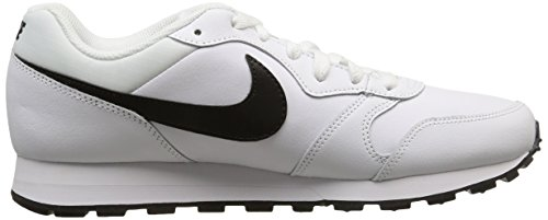 Nike Md Runner 2 Leather, Chaussures de Sport Homme multicolore (White/Black)