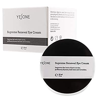 Eye Cream Yesone Supreme Renewal Natural Eye Cream for Lines Wrinkles and Dark Circles Anti Aging Under Eye Treatment Bags Under Eyes Puffy Eyes Reducer for All Skin Type from Yesone