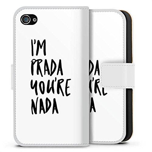 Apple iPhone 8 Plus Silikon Hülle Case Schutzhülle Prada Luxus Statements Sideflip Tasche weiß