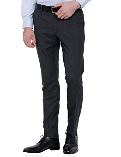 Black Coffee Men's Formal Trousers (_BCTR004362_32_Charcoal)