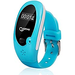 Generic Pink : Child Gps Tracker Smart Watch Wristwatch SOS Emergency AGPS Finder LBS Locator For Kid Elderly Anti-Lost Monitor Wearable Device
